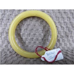 Yellow Jade Bangle