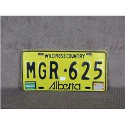 Yellow & Black No Year Alberta License Plates