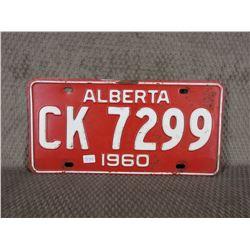 1960 Alberta License Plate