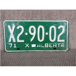 1971 Alberta License Plate