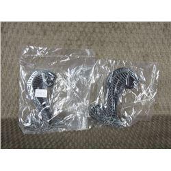 Set of 2 Plastic Cobra Stick-on Emblems