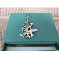 Eagle Silver & Turquoise Necklace