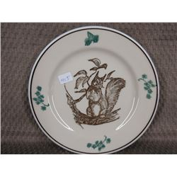 Mountain Trails Western Canadian Art - Squirrel Side Plate