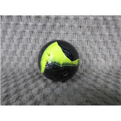 Vintage Large Black & Yellow Marble 1 3/8 inch