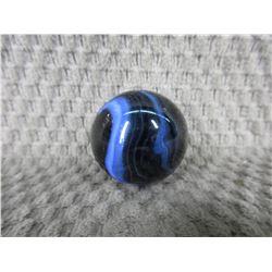Vintage Large Black & Blue Marble 1 3/8 inch