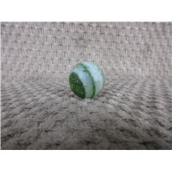 Vintage Green & White Satin Finish Marble 7/8 inch