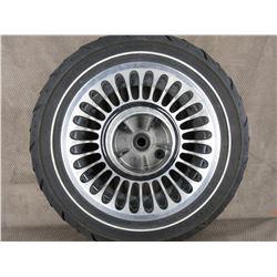 Used 180/65B16 M/C 81H Dunlop D407 Harley Front Tire on H-D Wheel T16X5.00 MT