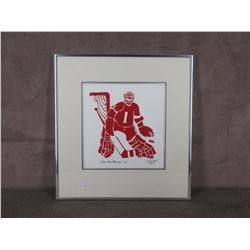Red Goaltender 5/18 by Moffat 1983 Picture & Frame