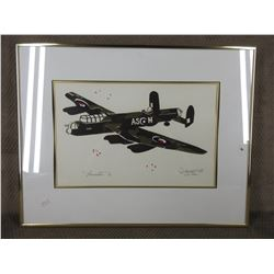 Lancaster 1/20 by Moffat 1988 Picture & Frame
