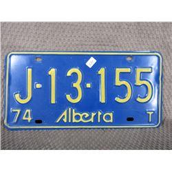 1974 Alberta License Plate