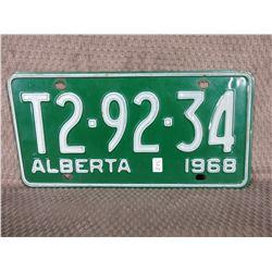 1968 Alberta License Plate