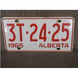 1965 Alberta License Plate