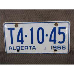1966 Alberta License Plate