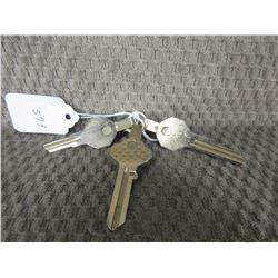 3 - Key Tie Clips
