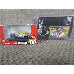M&M Kyle Busch #18 1/87 and Key Fob