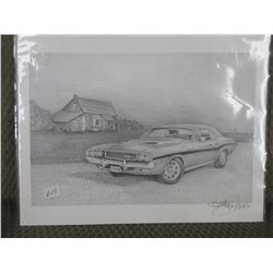 Pencil Art of 1970 Challenger