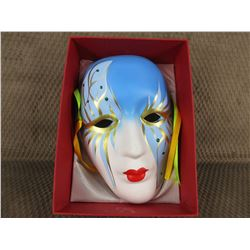 Painted Ceramic Face Mask - Wall Décor