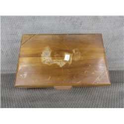 Wood Box with Mirror in Lid