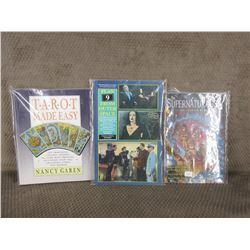 3 - Books Supernaturalist, Planet 9, Tarot Made Easy