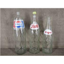 3 - Large Pepsi Bottles