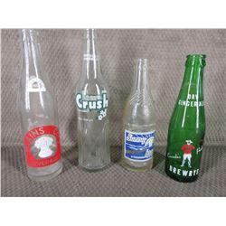 4 - Bottles Ginger Ale, Plains City, Crush, Sunny Brook