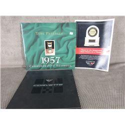 2002 Corvette Dealers Brochure, Time Passage 1957 Commemortive Year Book, Corvette JD Power Decal