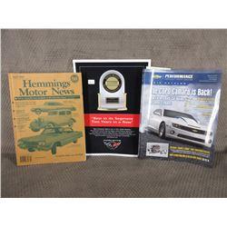 Hemmings Motor News 2004, GM Performance Catalog 2012, Corvette JD Power Decal