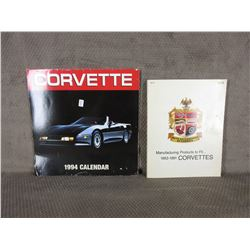 1991 Parts Catalog 1953-1991 Corvettes, 1994 Corvette Calender
