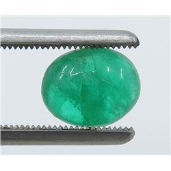 2.09 Carat Cabochon Oval Emerald