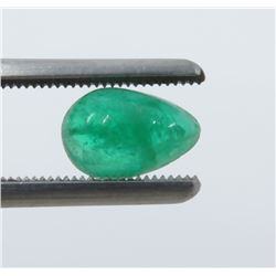 1.21 Carat Cabochon Pear-Shaped Emerald