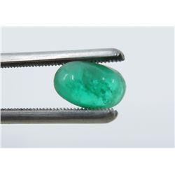 1.30 Carat Cabochon Oval Emerald