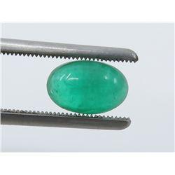 1.95 Carat Cabochon Oval Emerald