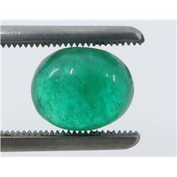 2.21 Carat Cabochon Oval Emerald
