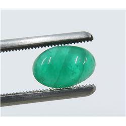1.93 Carat Cabochon Oval Emerald