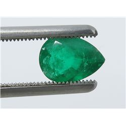 1.08 Carat Pear-Shaped Emerald