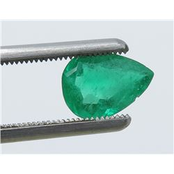 1.30 Carat Pear-Shaped Emerald