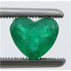 1.47 Carat Heart-Shaped Emerald