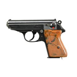 WALTHER POLICE MARKED PPK SEMI-AUTO PISTOL.