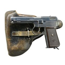 CZ 38 (P.39t) SEMI AUTO PISTOL WITH HOLSTER.