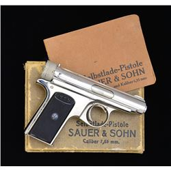 JP SAUER BOXED MODEL 1913 SEMI-AUTO PISTOL.