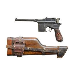 MAUSER M1896 RED NINE SEMI-AUTO PISTOL RIG.