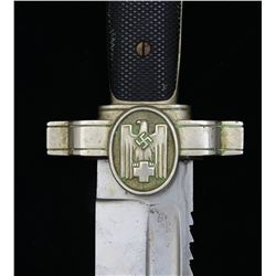 WWII GERMAN ENLISTED RED CROSS DAGGER.