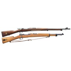 TWO BOLT ACTION RIFLES.