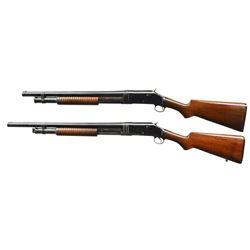 WINCHESTER 1897 RIOT STYLE PUMP SHOTGUNS.