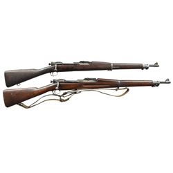 2 WW1 US MODEL 1903 BOLT ACTION RIFLES.