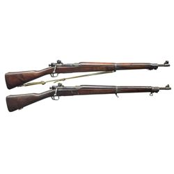 2 US 1903A3 WW2 BOLT ACTION RIFLES.