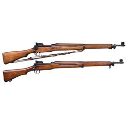 2 EDDYSTONE US MODEL 1917 BOLT ACTION RIFLES.