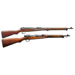 2 JAPANESE WWII BOLT ACTION MILITARY RIFLES.