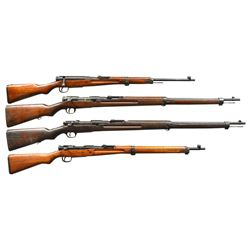 4 JAPANESE BOLT ACTION MILITARY RIFLES OF VARIOUS