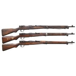 3 JAPANESE WWII TYPE 99 BOLT ACTION RIFLES.